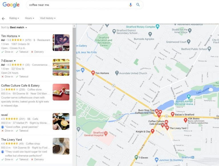 Google Maps with Local search results
